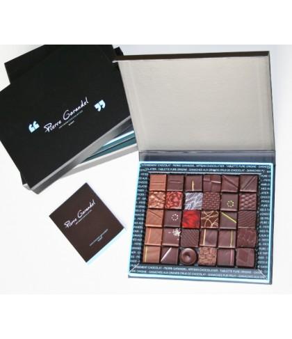 Coffret de 50 chocolats noirs